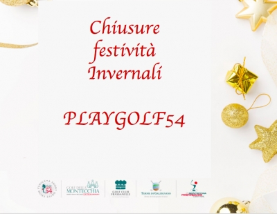 PLAYGOLF54 - CHIUSURE FESTIVITA'