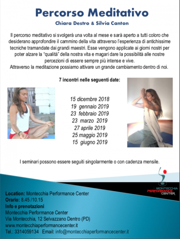 Programma Meditativo al Montecchia Performance Center