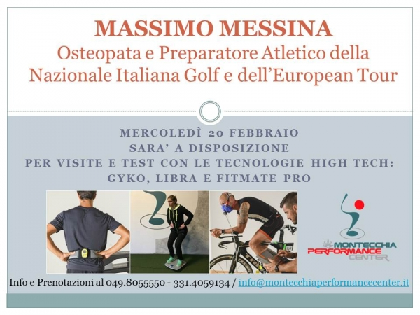 Massimo Messina il 20/02 @Montecchia Performance Center