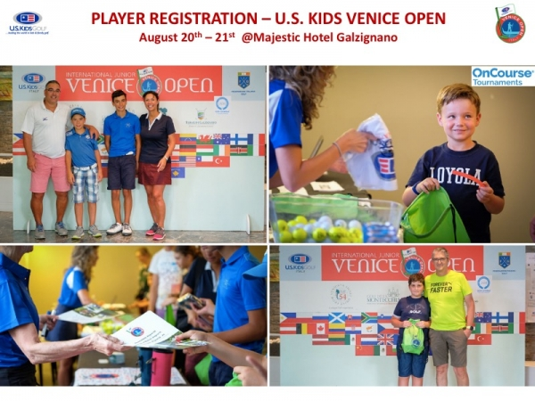 PLAYER REGISTRATION U.S. KIDS VENICE OPEN 2019