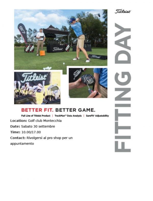 TITLEIST FITTING DAY - 30 settembre 2017