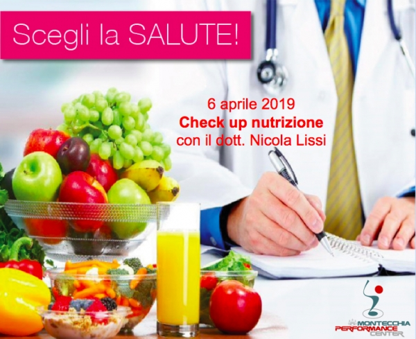 CHECK UP NUTRIZIONE @MONTECCHIA PERFORMANCE CENTER